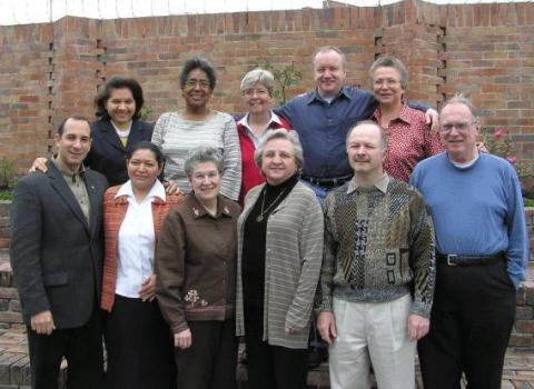 Participants are the March 2006 InterAmerican Committee meeting included: (top row) Nueza Botelho Dos Santos, the translator, Carole Shinnick, Paul Linninger, DINA MARIA ORELLANA Dina Maria Orellana, (bottom) Dominic Izzo, Vilma Esperanza Q. Moran, Margaret Toner, Christine Vladimiroff, Alain Ambeaul and Michael McNulty