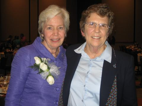 Mary Hughes, OP and Carol Keehan, DC