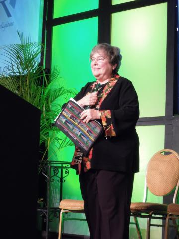 Elizabeth A. Johnson, CSJ accepts the 2014 LCWR Outstanding Leadership Award