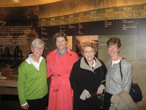 Carole Shinnick, SSND; Cokie Roberts; Lindy Boggs (former US congresswoman, ambassador to the Vatican and Cokie