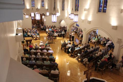 Dubuque, Iowa area women religious and their neighbors gather to pray