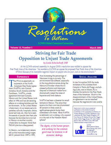 Striving For Fair Trade Opposition To Unjust Trade Agreements Mar