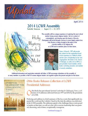 April 2014 LCWR Newsletter