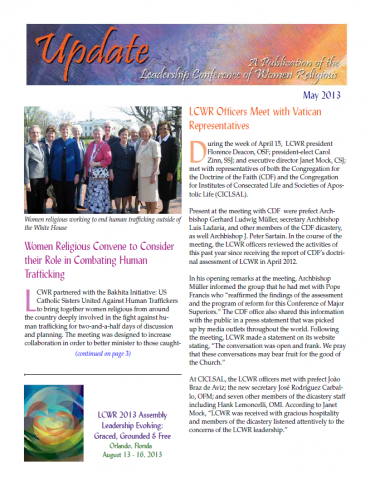 LCWR Update - May 2013