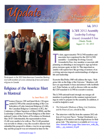 LCWR Newsletter - July 2013