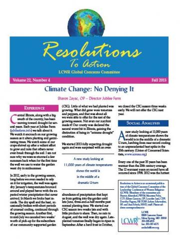 Resolution to Action -- Fall 2013
