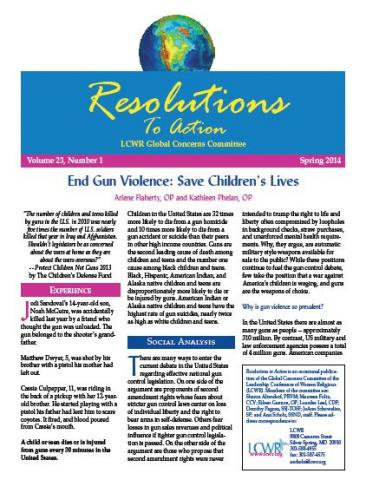 Resolution to Action -- Spring 2014