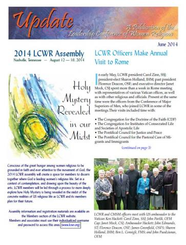 LCWR Newsletter - June 2014