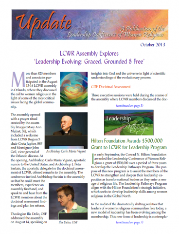 LCWR Newsletter - October 2013