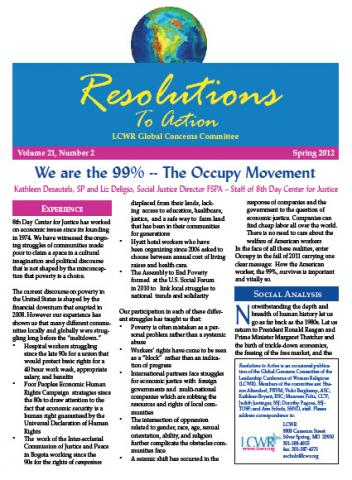 Resolutions to Action Spring 2012