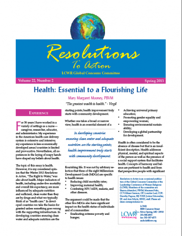 Resolutions to Action - Spring 2013