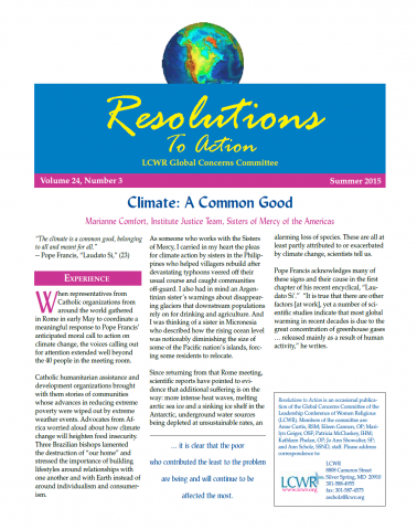 Resolutions to Action - Summer 2015