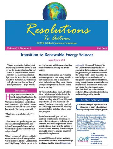 Resolutions to Action - Fall 2014